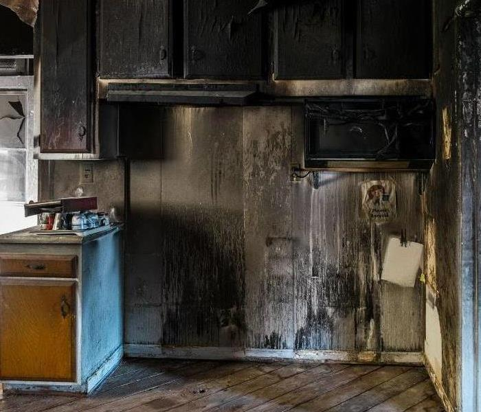 Kitchen damaged by fire