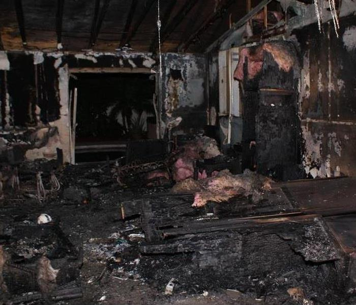 Inside house after fire