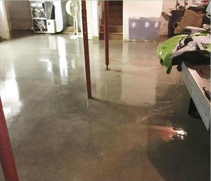 clean basement floor